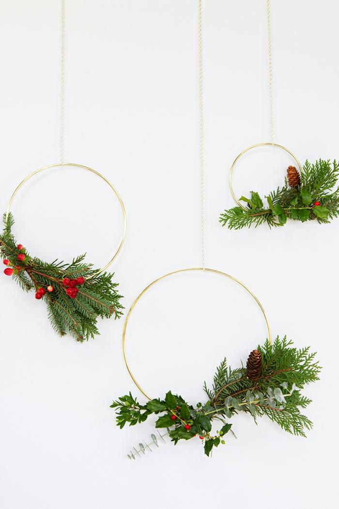 ideen und inspiration für weihnachtskranz basteln aus tannenzweigen und tannenzapfen schönen deko weihnachten