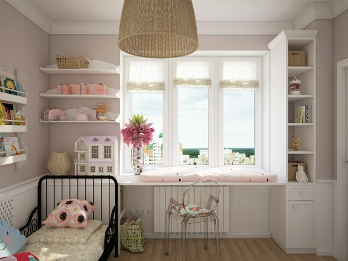 40 ideen f r sch ne kinderzimmer fensterdeko. Black Bedroom Furniture Sets. Home Design Ideas