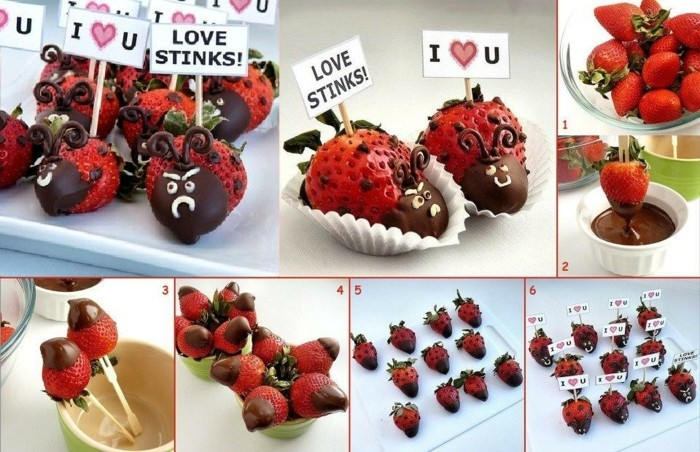 marienkafer-basteln-aus-erdbeeren-und-schokolade