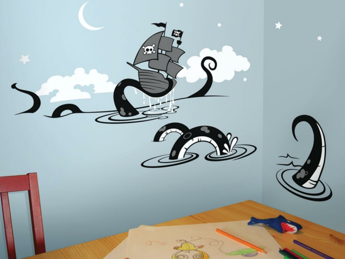 Wandtattoo f r kinderzimmer 73 super ideen for Piraten wandtattoo kinderzimmer