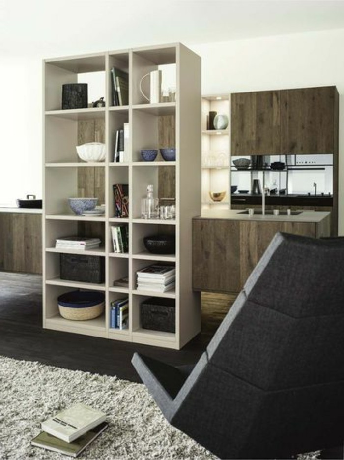bucherregale als raumteiler m belideen. Black Bedroom Furniture Sets. Home Design Ideas