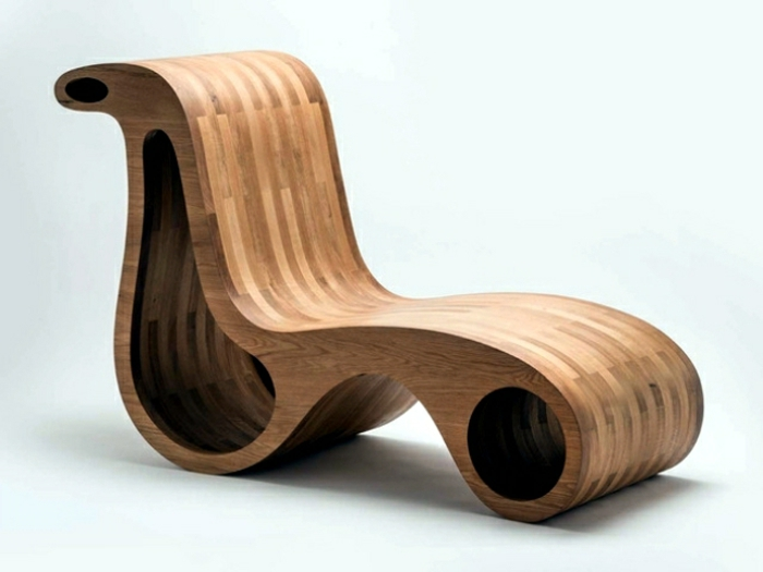 Moderne holzmöbel  Relax Stuhl für das Wohnzimmer oder die Privatecke - Archzine.net