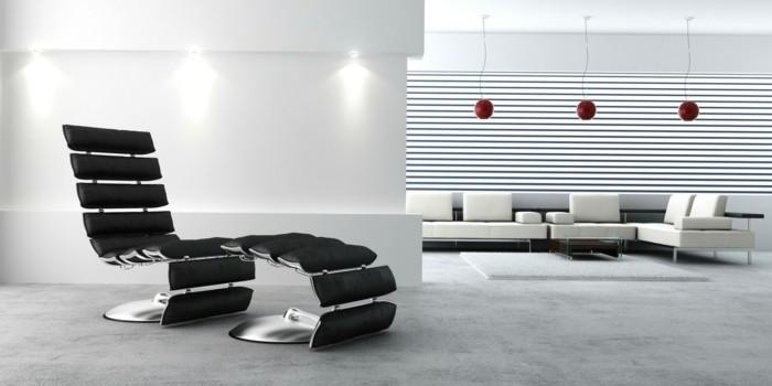 relax-stuhl-schwarzer-lederstuhl-lederhocker-schwarz-plueschteppich-weisse-couch-weisser-sessel