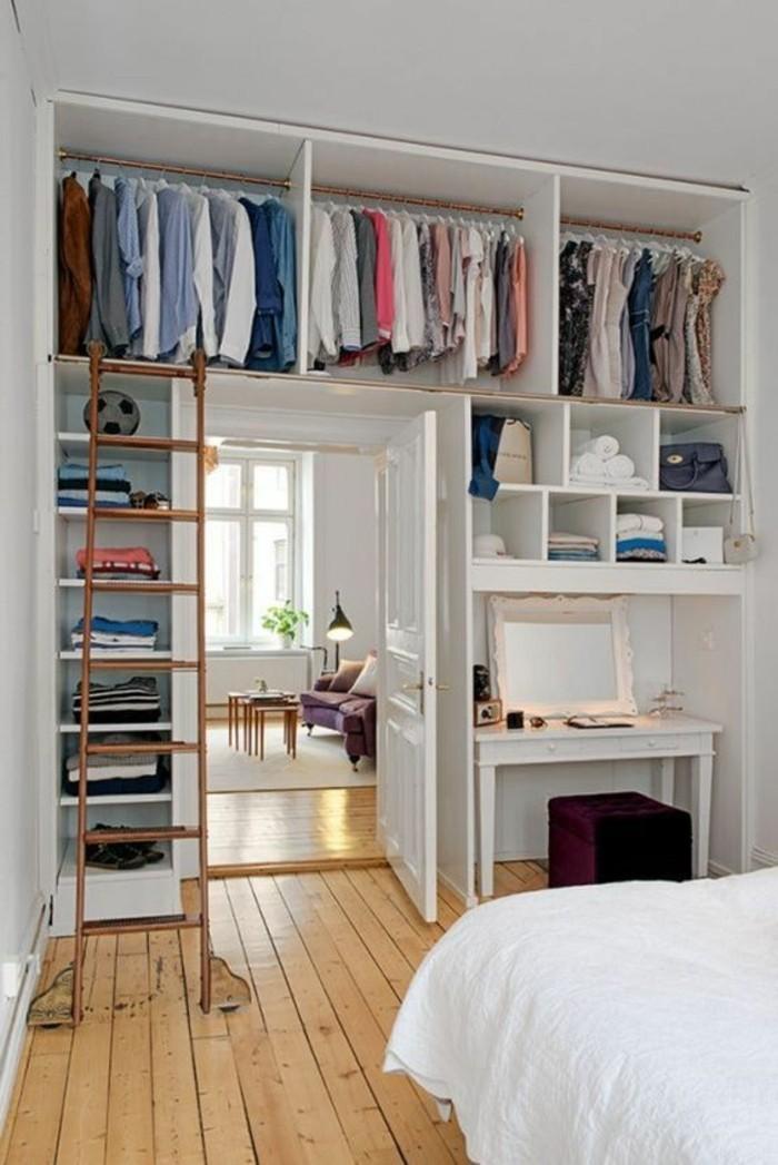 schlafzimmer-inspirationen-kleiner-leiter-boden-aus-holz