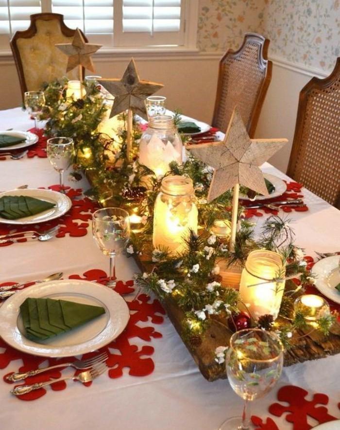 40 bildsch ne ideen wie sie servietten weihnachtlich falten - Servietten dekorieren ...