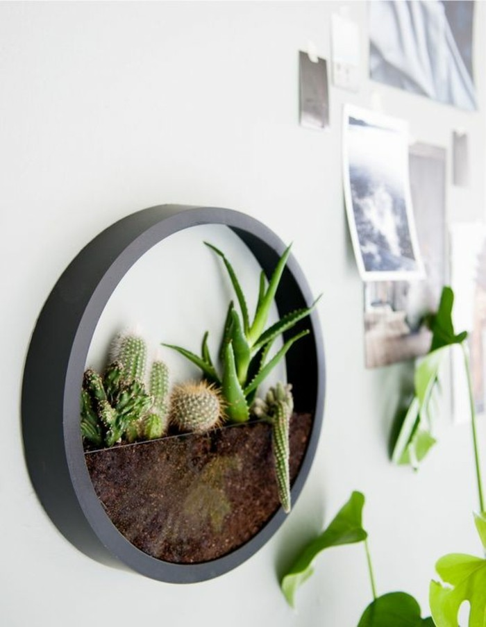 wanddeko-selber-machen-fruhlingsdeko-basteln-grune-pflanzen
