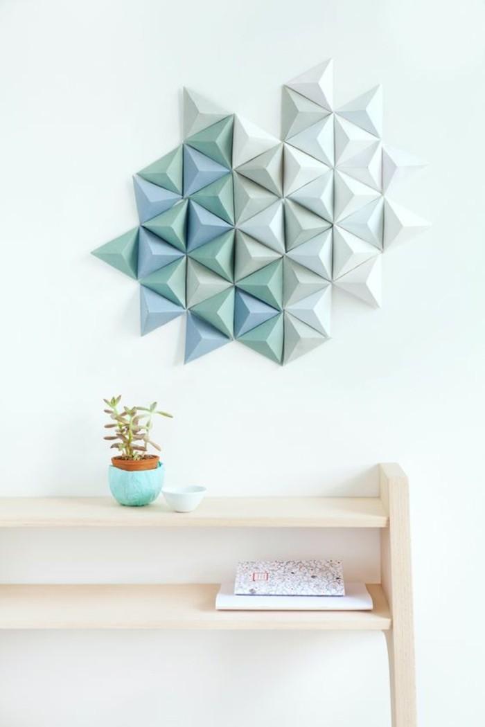 wanddeko-selber-machen-wohnideen-selber-machen-wanddeko-aus-papier-in-weis-und-blau