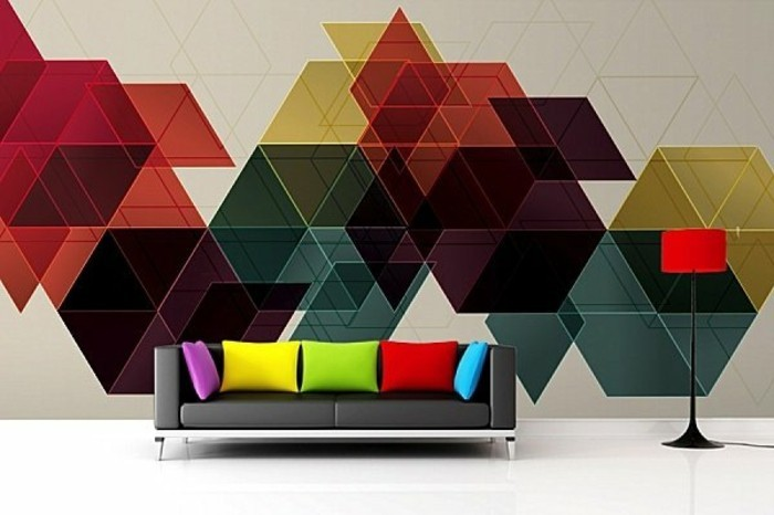 geometrische formen tolle wandgestaltung mit farbe. Black Bedroom Furniture Sets. Home Design Ideas