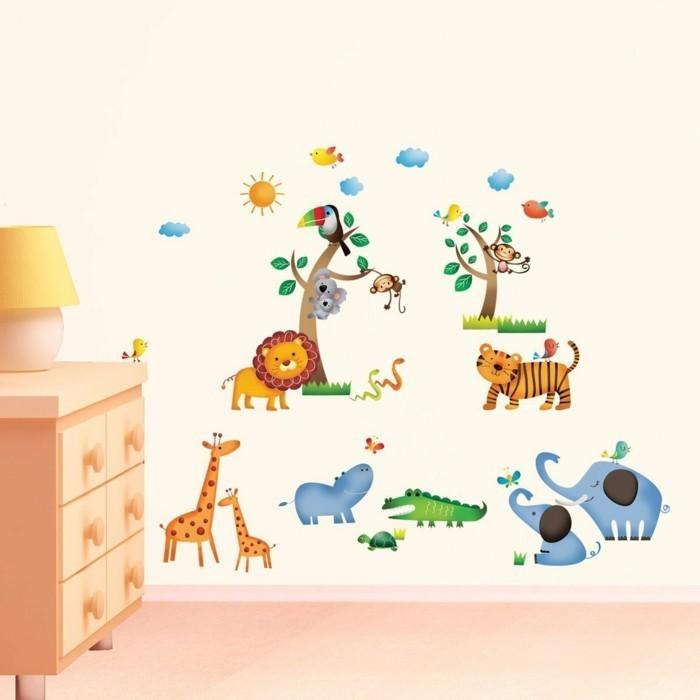 Wandtattoo Fuer Kinderzimmer Wilde Tiere