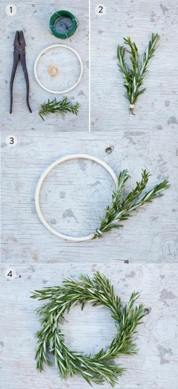 weihnachtskranz-selber-basteln-immergruene-zweige-weisser-kreis-zange
