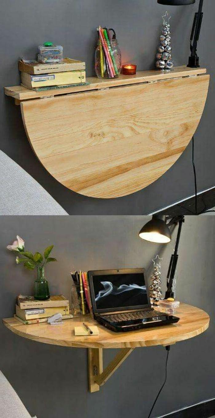 wohnung-einrichten-ideen-flexibler-tisch-aus-holz-lampe