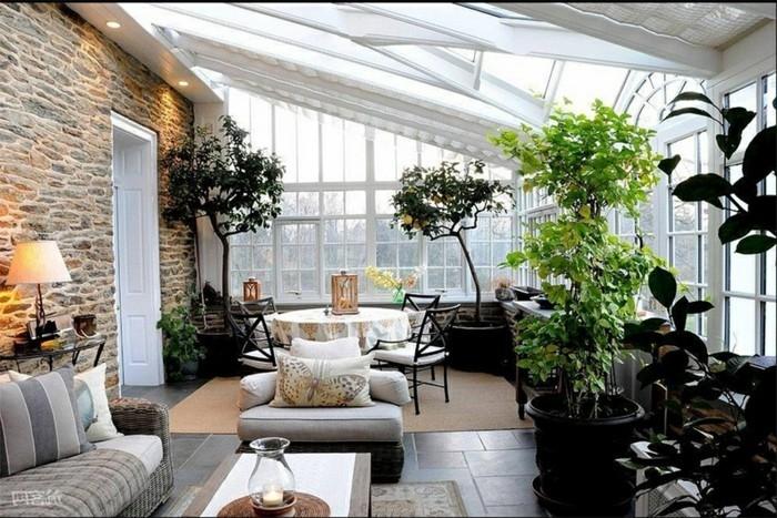 Dekotipps Wohnzimmer | Inspirierende Dekoideen Kleiner Innen Gartenbereich Archzine Net