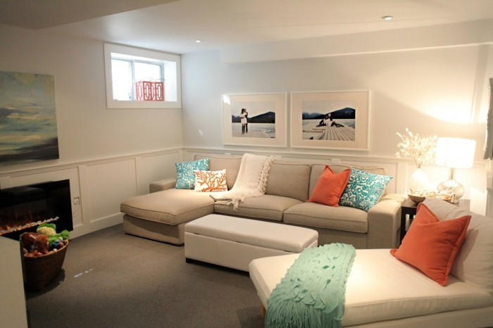 farbgestaltung mit blau und creme wohndesign