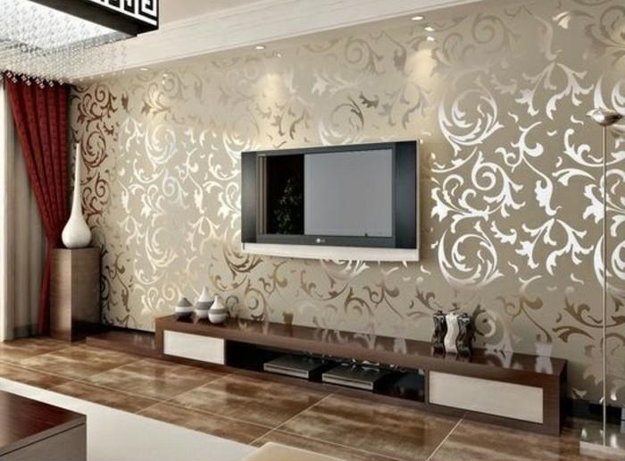 tapeten ideen für eine ausgefallene wandgestaltung - Wohnzimmer Tapeten Ideen Beige