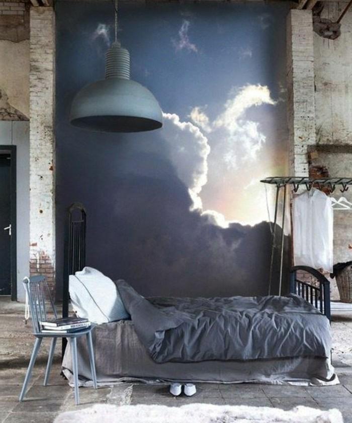 11-wandgestaltung-ideen-schlafzimmer-bett-stuhl-teppich-lampe-tapet