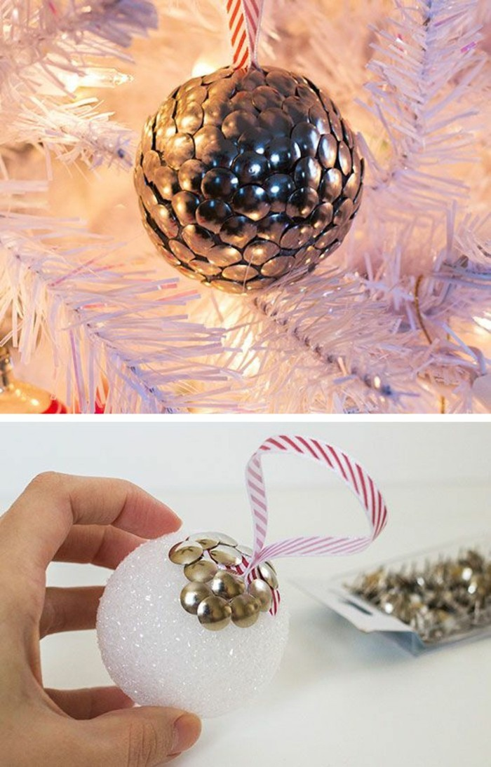 Weihnachtsschmuck basteln kreative ideen und inspirationen - Christbaumkugeln selber machen ...
