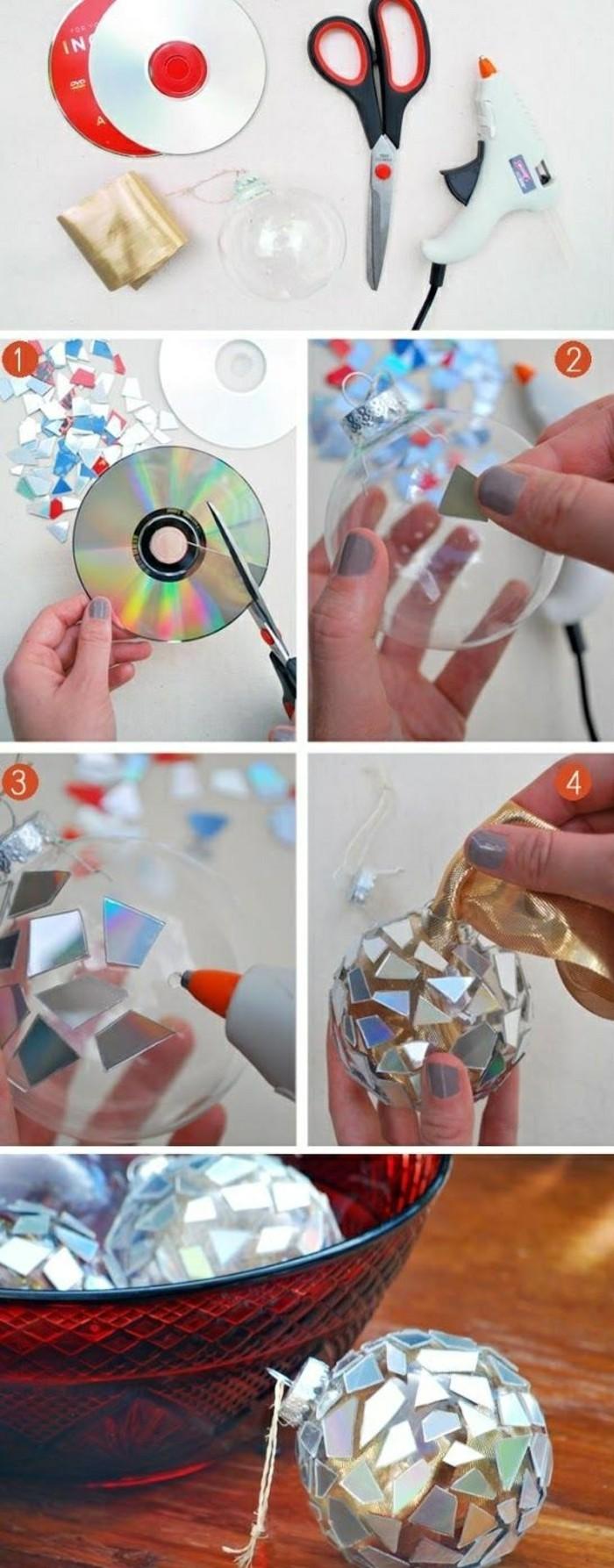 Weihnachtsschmuck basteln kreative ideen und inspirationen - Glas mit kugeln dekorieren ...