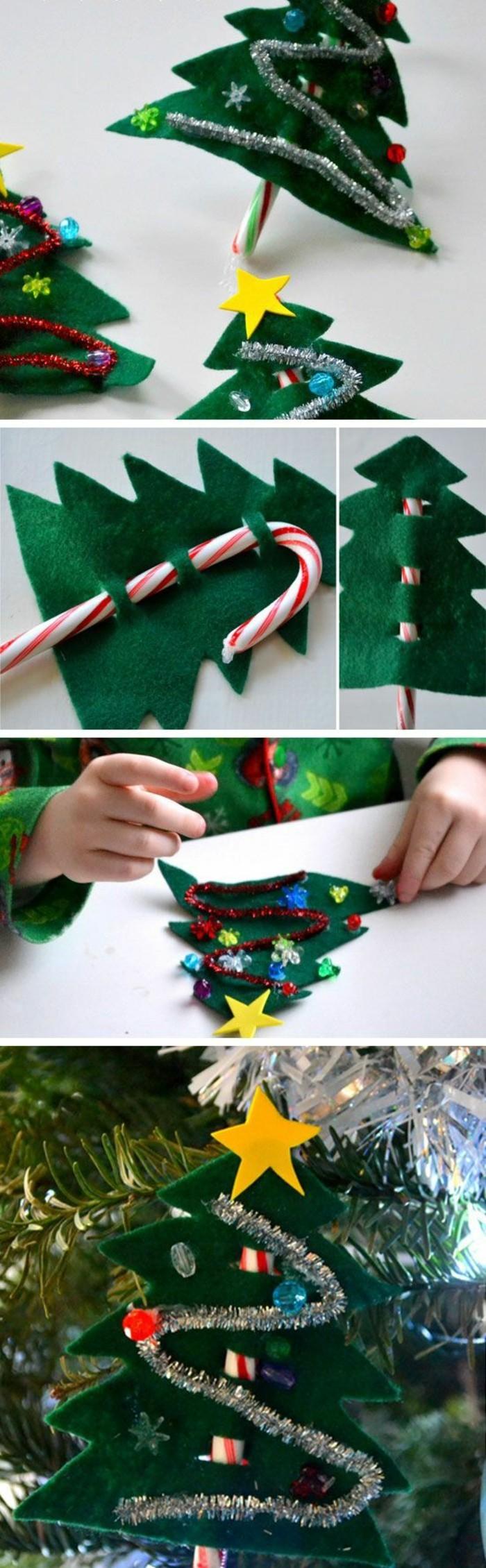 18-tannenbaum-aus-grunem-stoff-silberne-gilande-gelber-stern-weihnachtsbaum-schmucken