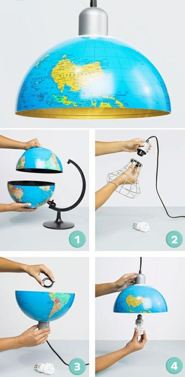 2-lampenschirm-basteln-aus-globus-beleuchtung-gluhbirne