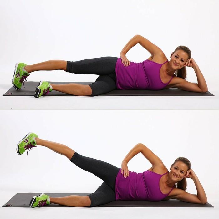 Workout für Zuhause sich in Form mit einfachen Übungen