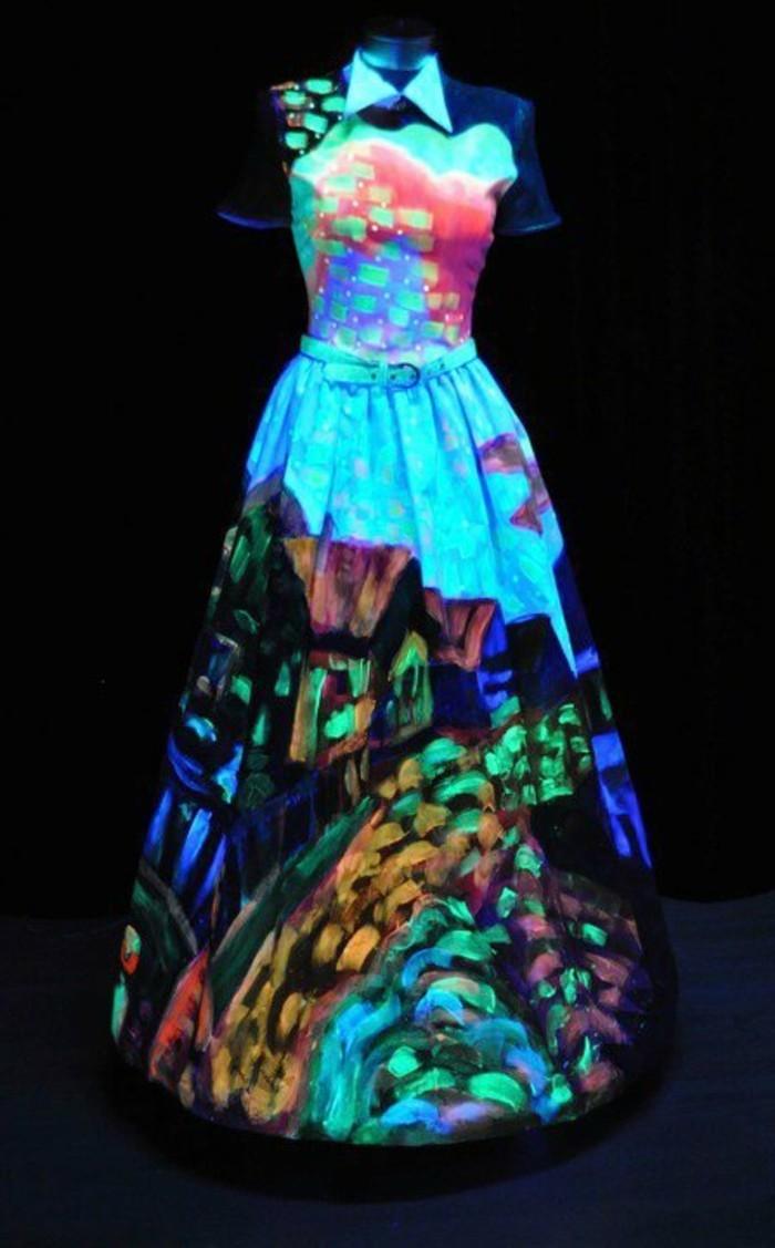 3silvester-outfit-langes-kleid-licht-effekt-kurze-aermel-guertel-kleid-mit-kragen