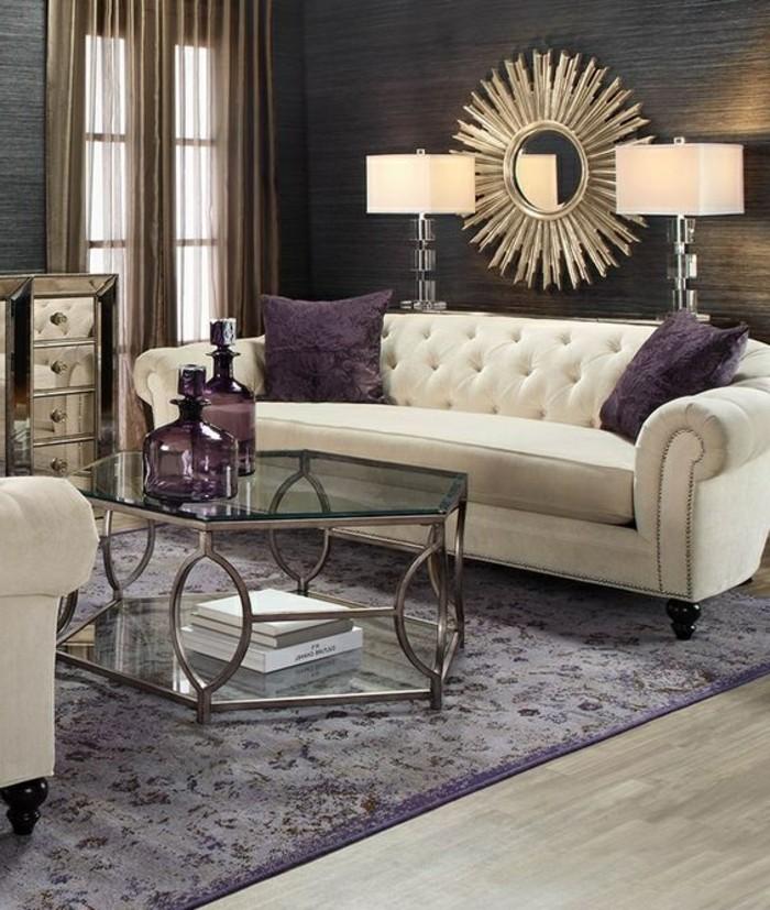 4-wand-deko-sonnenspiegel-weiser-sofa-tisch-aus-glas-flaschen-lila-teppich