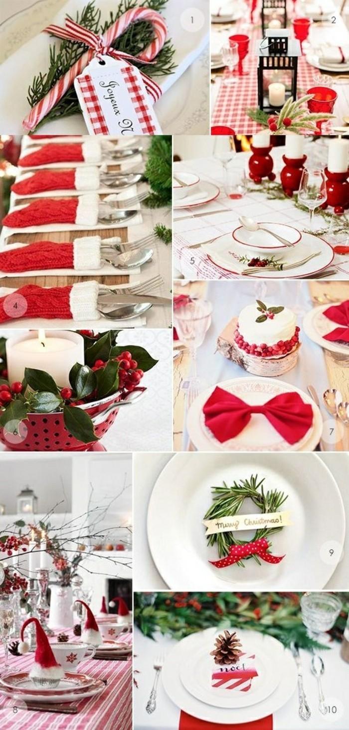 4-weihnachtsdeko-ideen-machen-rote-schleife-kleine-weihnachtskranze-vogelbeeren-rot-weis