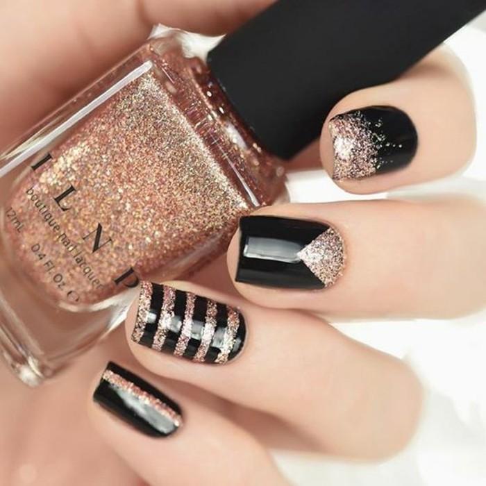 6-nageldesign-schwarz-und-gold-nagellack-finger-nagel-silvester