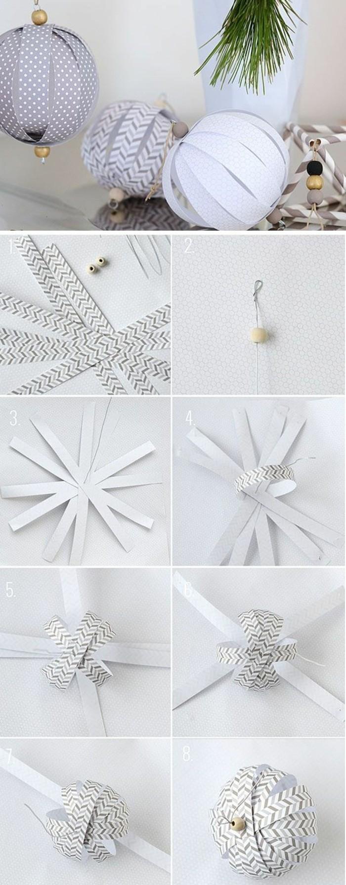 7-weihnachtsdeko-selber-machen-weihnachtskugeln-aus-weisem-papier
