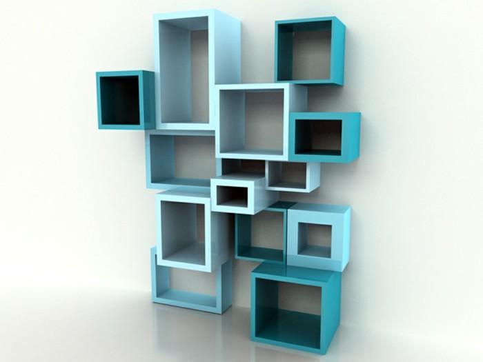 buecherregal-ideen-regal-wuerfel-in-blauer-farbe