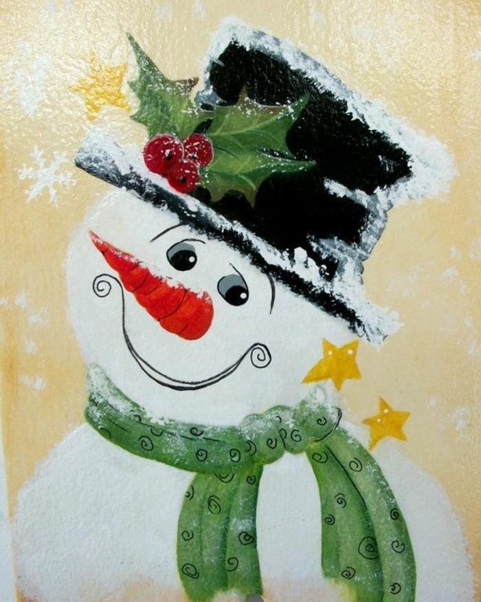 fensterbild-weihnachten-schneemann-frohlich