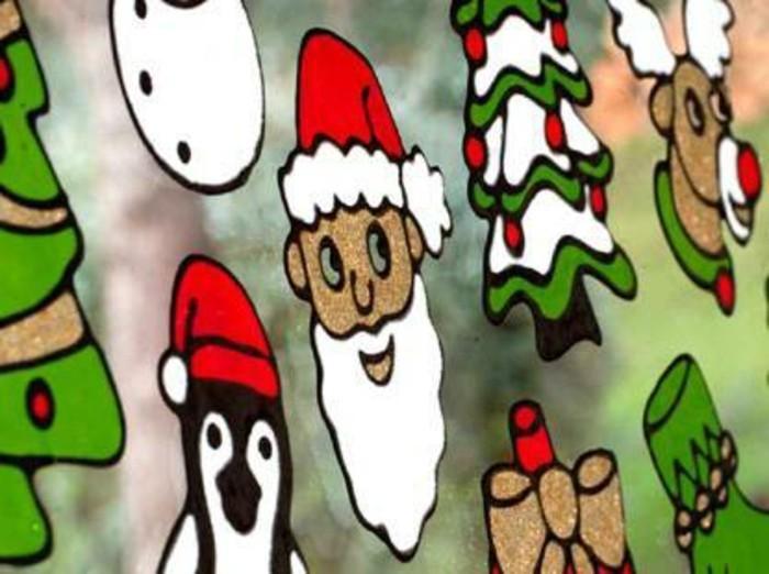 fensterbilder-weihnachten-basteln-farbig-santa