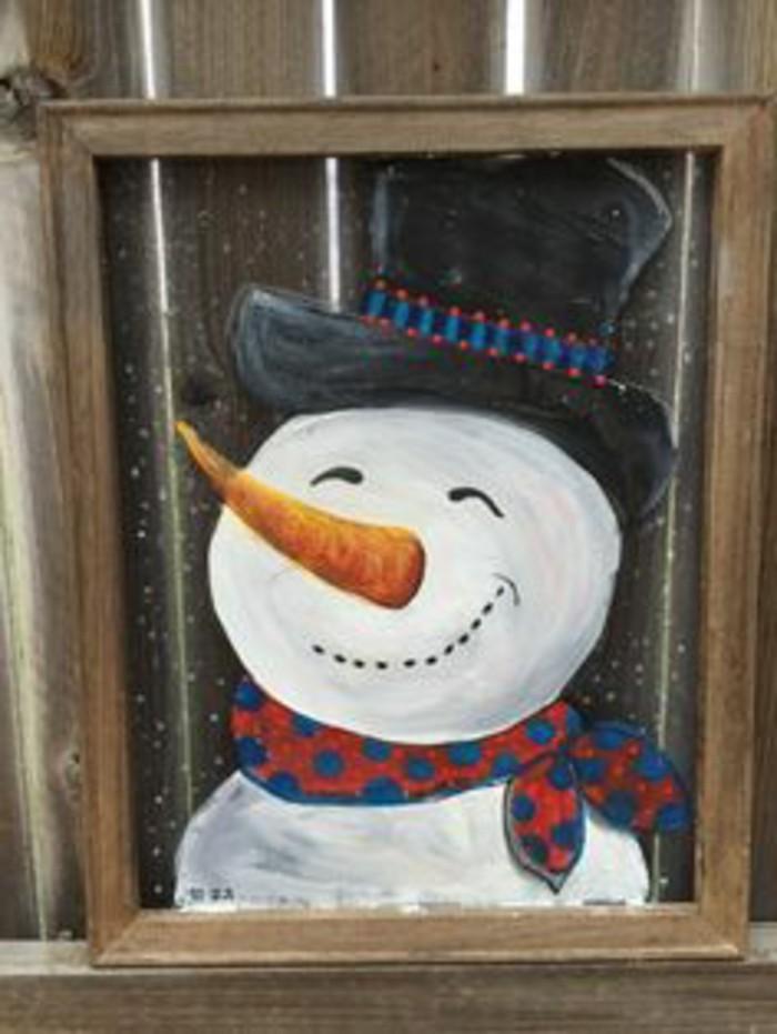 fensterbilder-weihnachten-laechelnder-schneeman