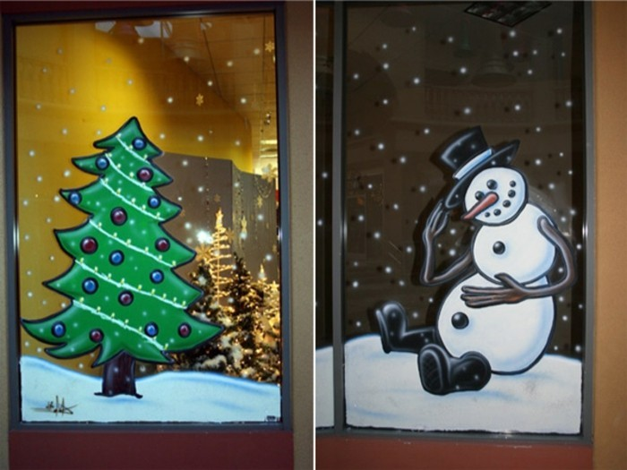 Feine fensterbilder zu weihnachten und winterzeit - Fensterschmuck weihnachten basteln ...