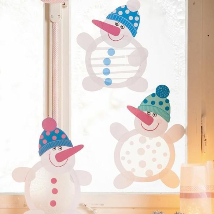 fensterbilder-weihnachten-schneemaenner-farbig-gestalten