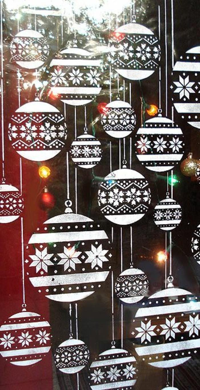 Feine fensterbilder zu weihnachten und winterzeit - Vorlagen fensterbilder ...