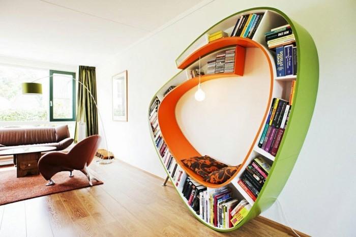 kreative-buecherregale-wie-einen-sitzbank-grosse-wohnzimmer
