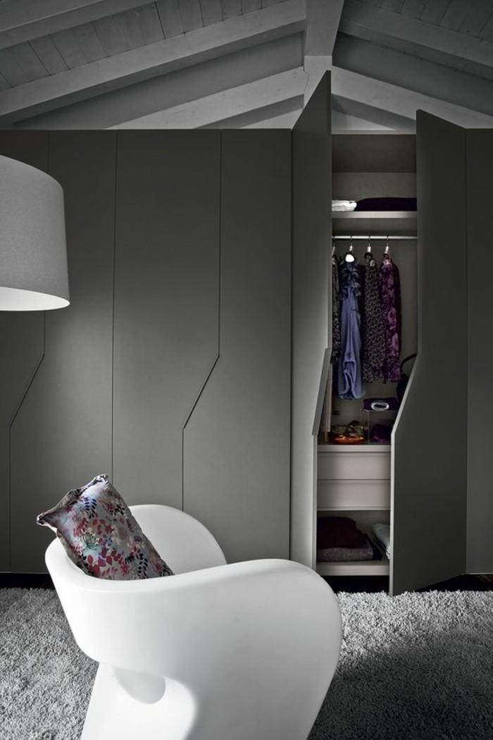 1001 ideen f r offener kleiderschrank tolle wohnideen for Kleiner sessel grau