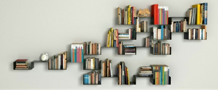 Ausgefallenes bücherregal  Bücherregal Ideen - über 60 Inspirationen für Ihr Zuhause ...