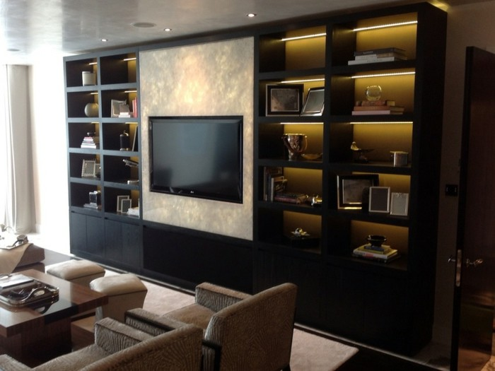 Buecherregal Wohnzimmer Regalsystem Luxus Wohnung Led Beleuchtung Bücherregal  Ideen U2013 über 60 Inspirationen Für ..