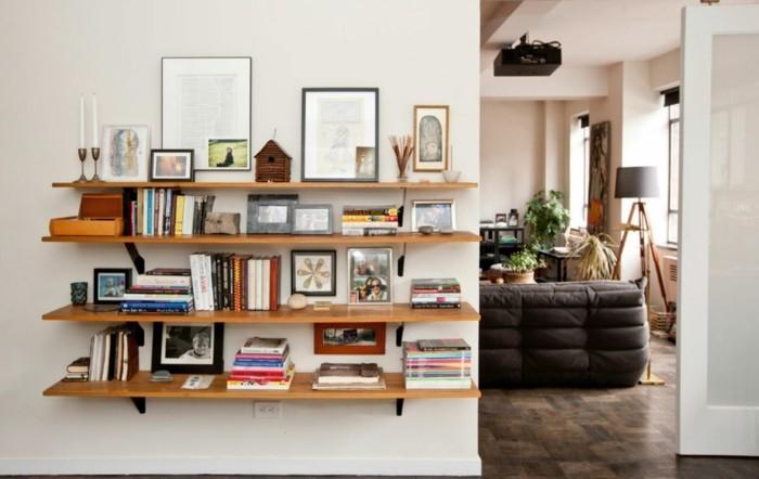 bücherregal ideen - über 60 inspirationen für ihr zuhause, Wohnzimmer