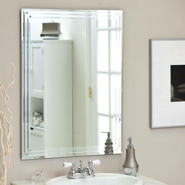 Badspiegel Quadratisch Kanten Moderne Bad Armaturen