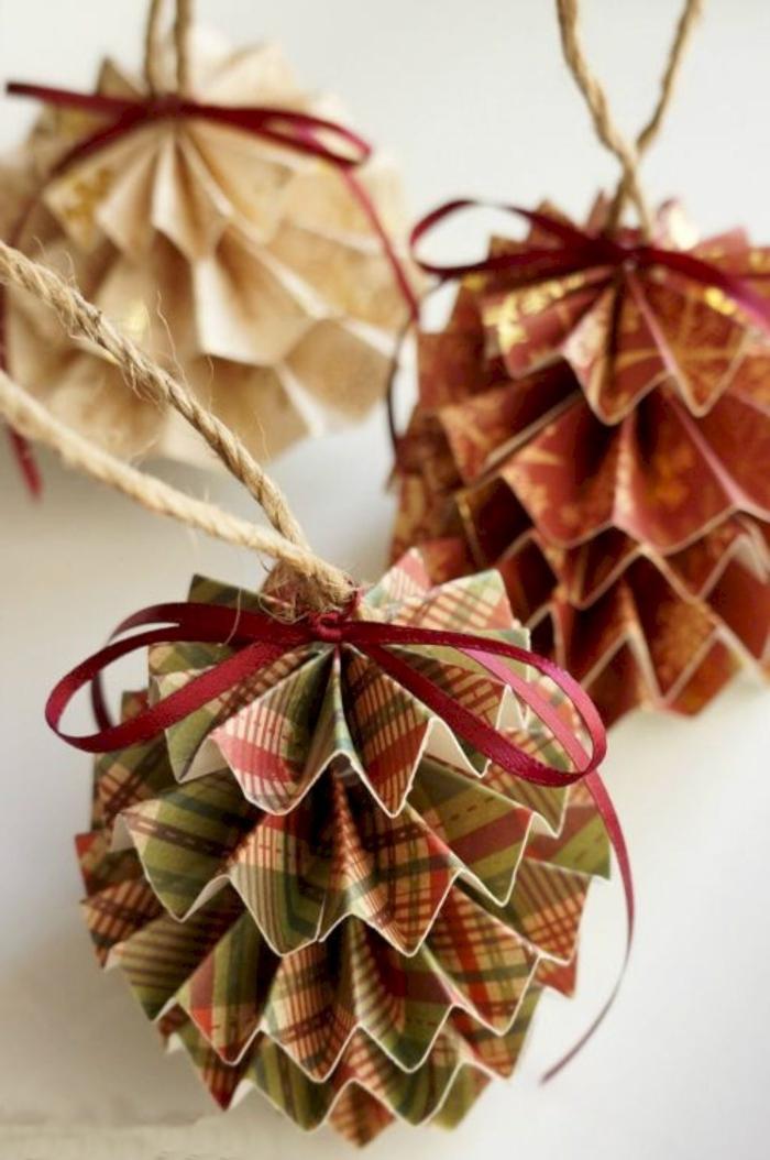 basteln weihnachten papier kreative ornamente weihnachtsbaum selber machen bastelideen tannenbaum