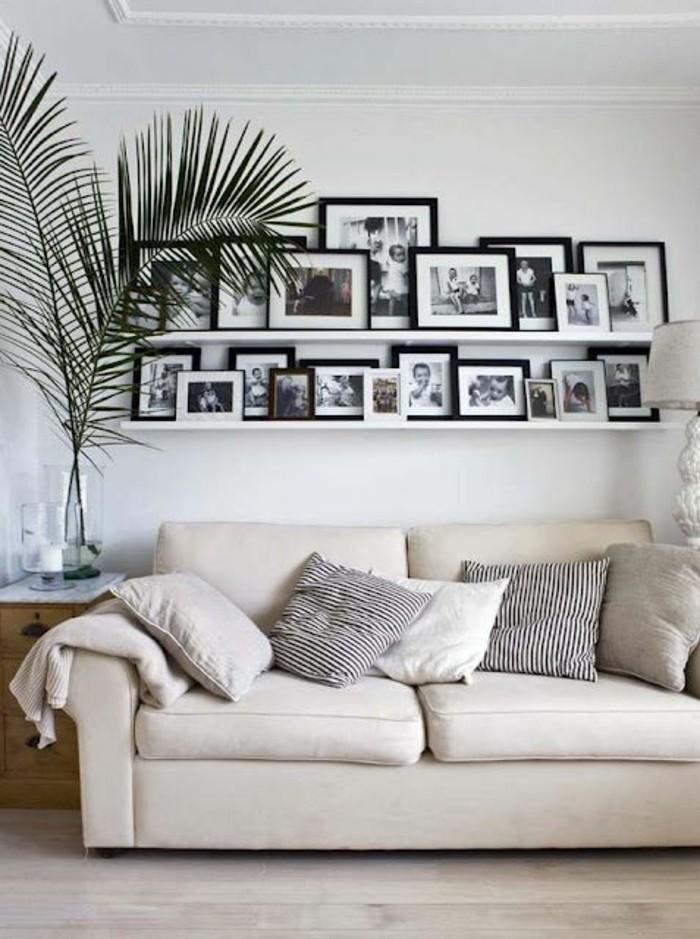 Weisse Bilderrahmen Wand | Die schönsten Einrichtungsideen
