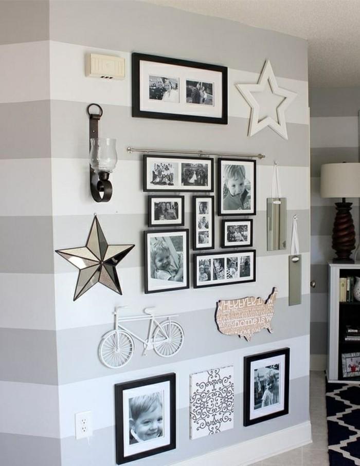 bilderrahmen-wand-sterne-fotos-dekorationen-fahrrad-lampe