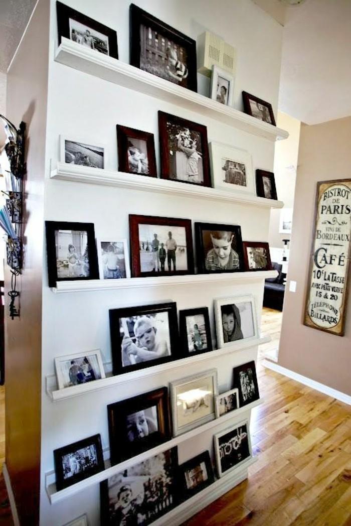 fotowand selber machen 66 wundersch ne ideen und inspirationen. Black Bedroom Furniture Sets. Home Design Ideas