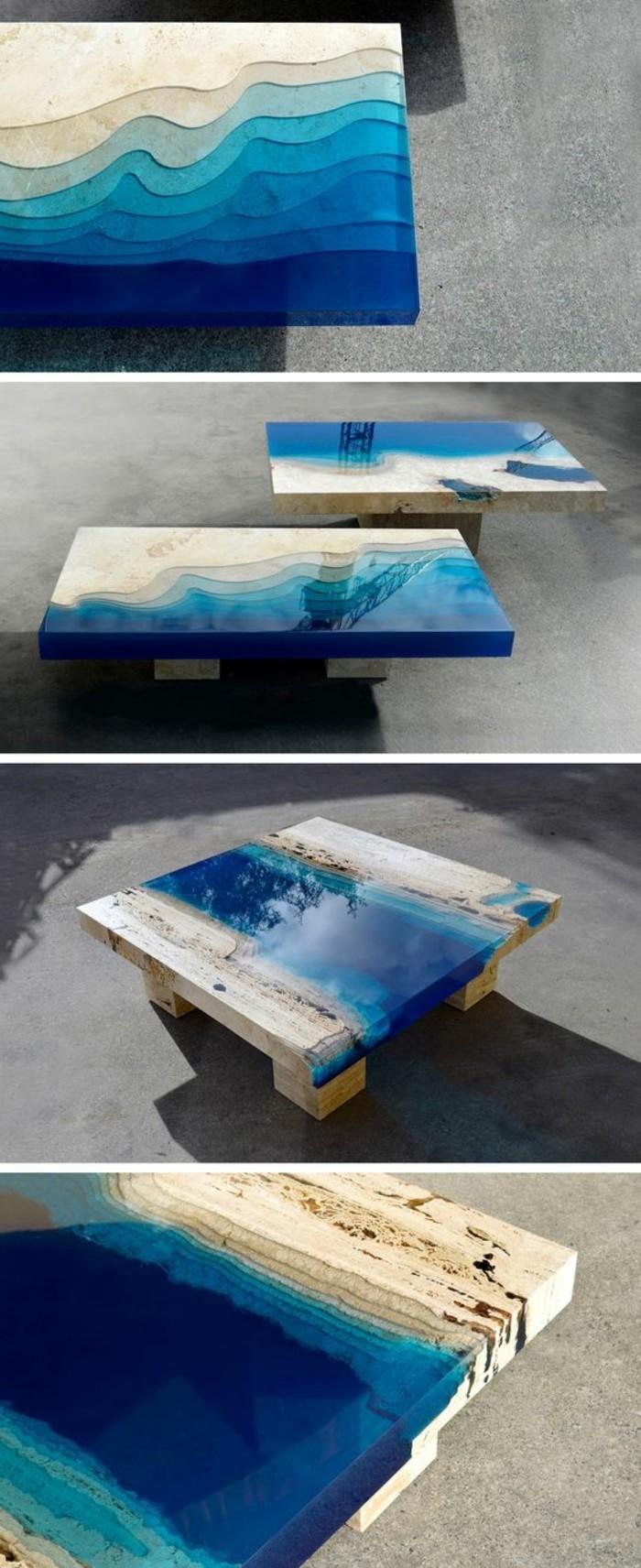 couchtisch-massivholz-gefaerbtes-glas-blaues-glas-kurze-beine-wasserfall-effekt