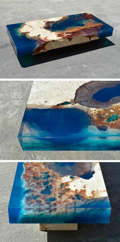 couchtisch-massivholz-und-glas-braun-blau-orange-gross-kurze-beine-super-modern