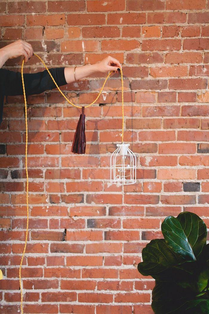 deckenlampe selber bauen hängelampe einfache anleitung lampe basteln diy ideen selbstgemachte deko