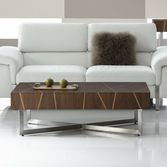 designer-couchtisch-aus-holz-mit-metallbeinen-tisch-fuers-wohnzimmer-weisse-ledercouch-plueschkisse-braun